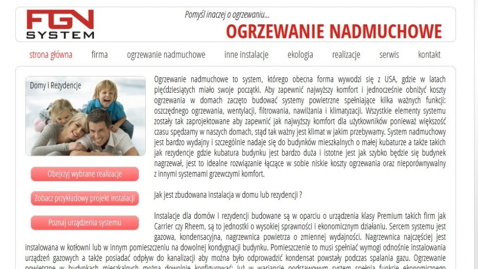 strony internetowe - podląg dla System ogrzewania nadmuchowego nr 2
