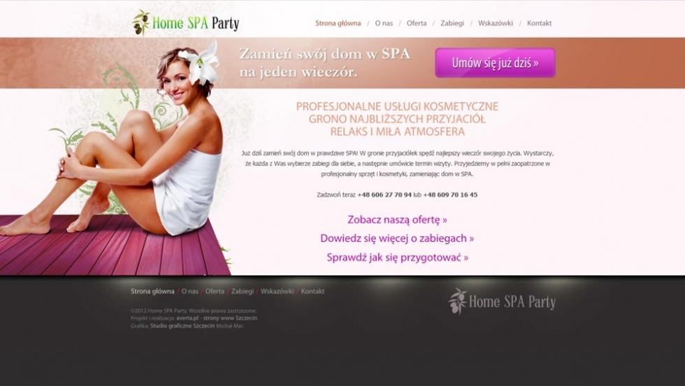 strony internetowe - podląg dla Home SPA Party nr 2