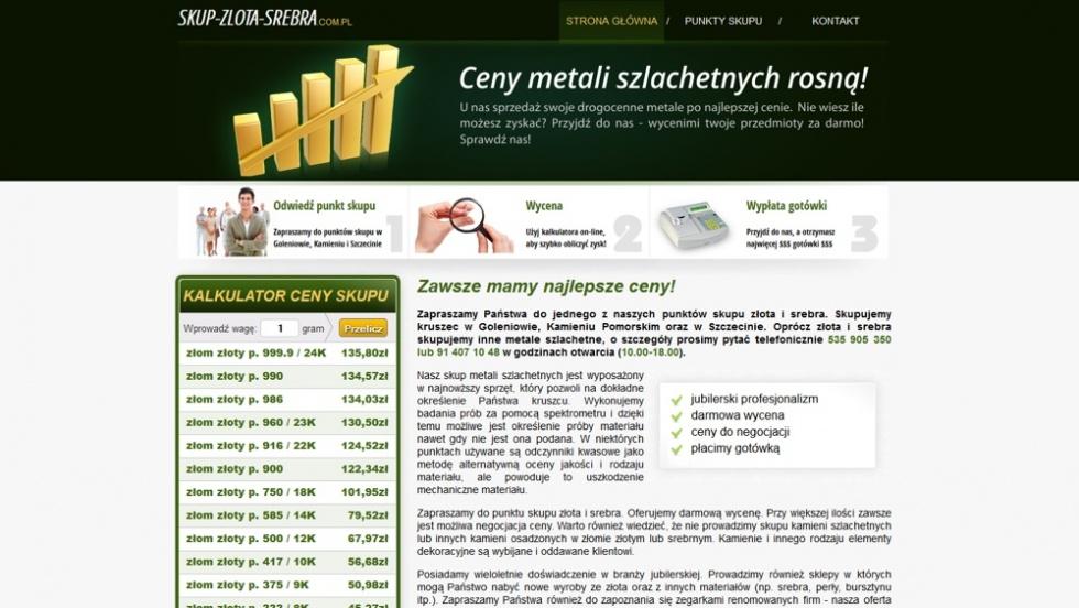 strony internetowe - podląg dla Skup złota i srebra nr 1
