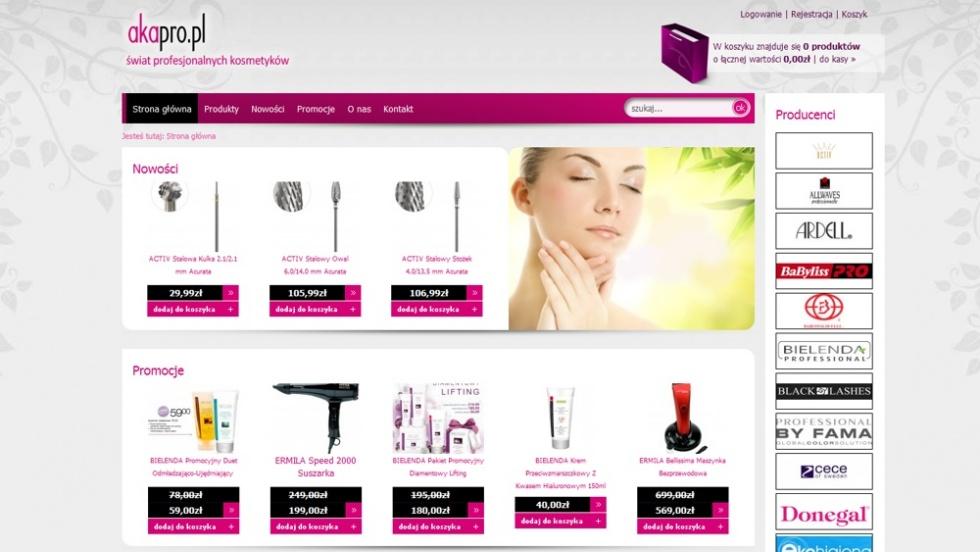 sklepy internetowe - podląg dla Sklep z kosmetykami nr 3