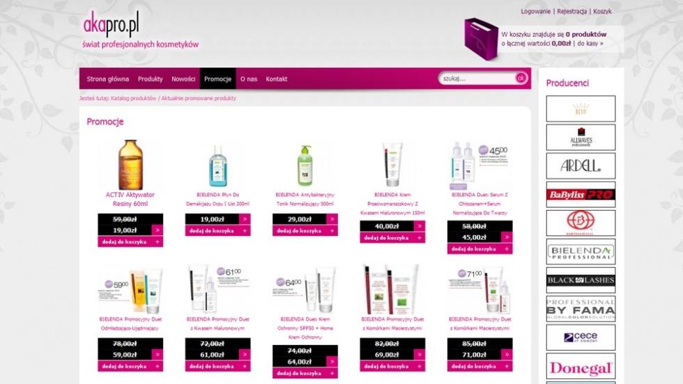 sklepy internetowe - podląg dla Sklep z kosmetykami nr 1