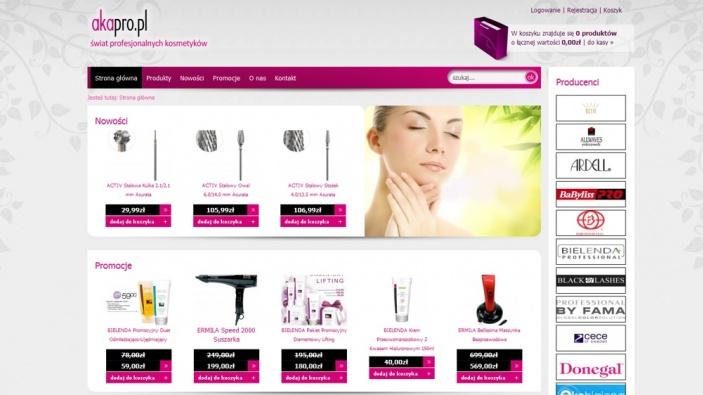 zrzut ekranu nr 2 dla realizacji Hurtownia kosmetyków online