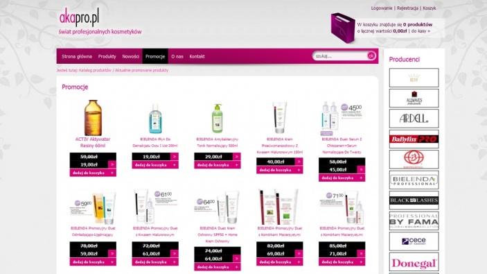 zrzut ekranu nr 0 dla realizacji Hurtownia kosmetyków online
