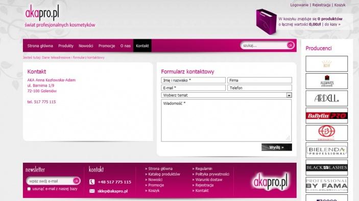 zrzut ekranu nr 1 dla realizacji Hurtownia kosmetyków online