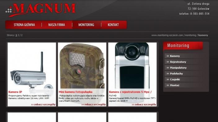 zrzut ekranu nr 0 dla realizacji Magnum - monitoring Szczecin
