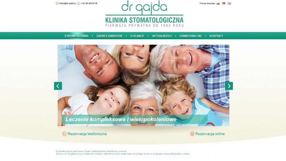 strony internetowe - podląg dla Strona www dla kliniki stomatologicznej nr 3