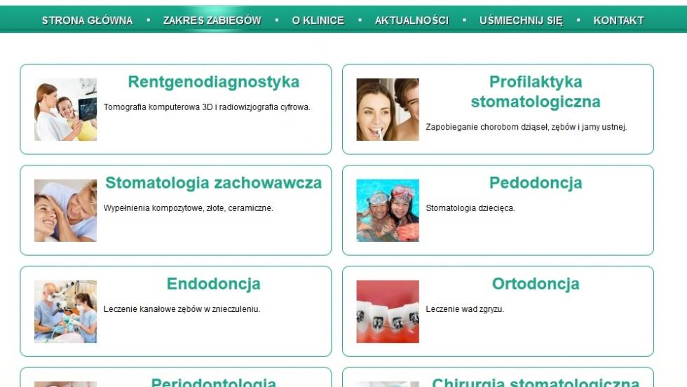 strony internetowe - podląg dla Strona www dla kliniki stomatologicznej nr 4