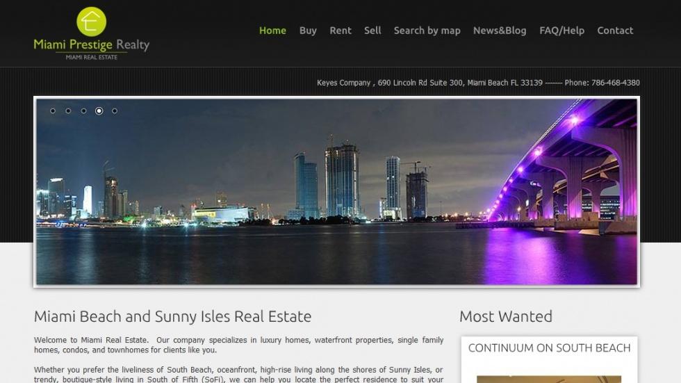 strony internetowe - podląg dla Miami Real Estate nr 2