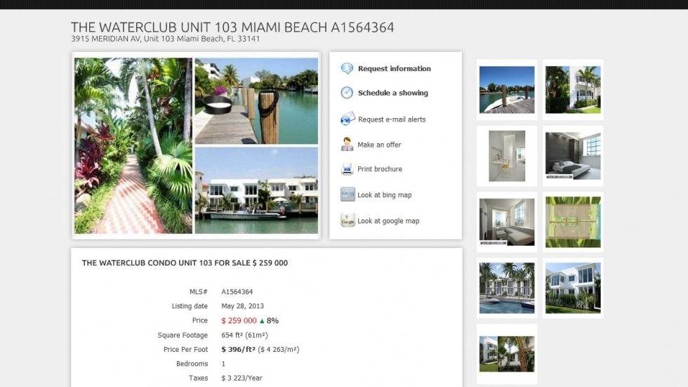 strony internetowe - podląg dla Miami Real Estate nr 1