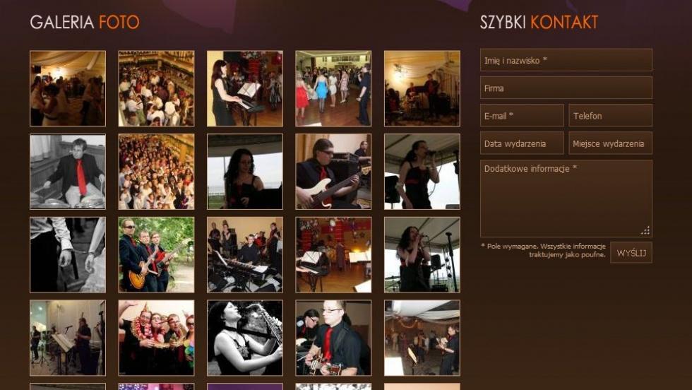 strony internetowe - podląg dla Zespół na wesele z Wrocławia nr 4