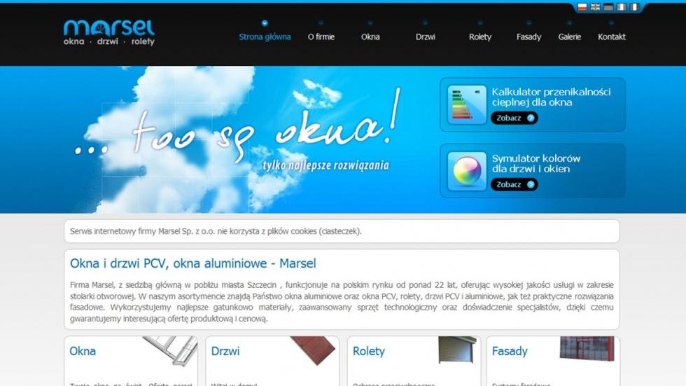 strony internetowe - podląg dla Marsel - to są okna nr 3