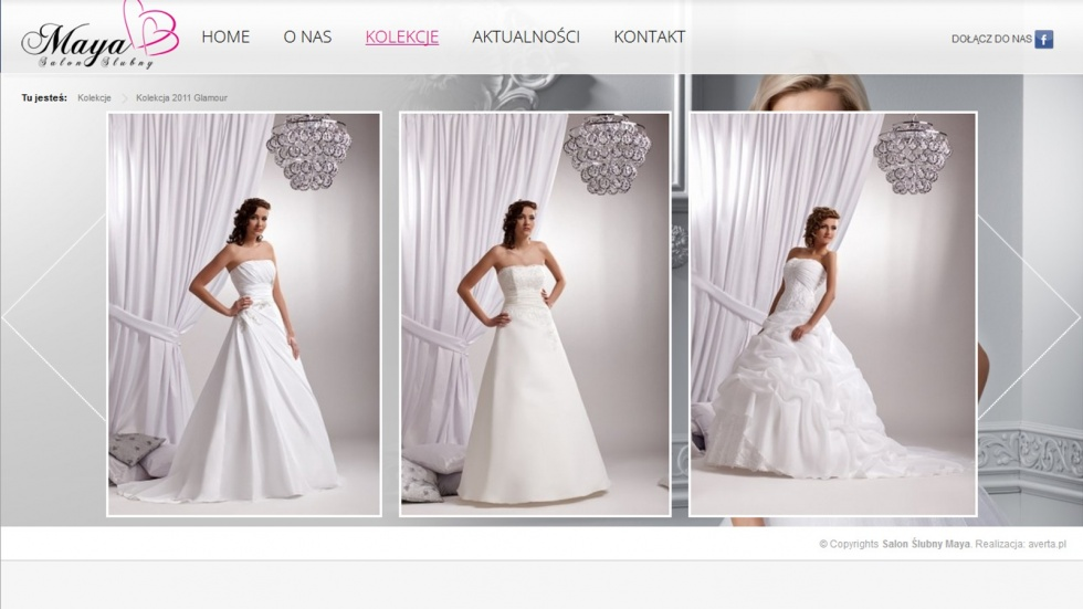 strony internetowe - podląg dla Salon Ślubny Maya nr 2