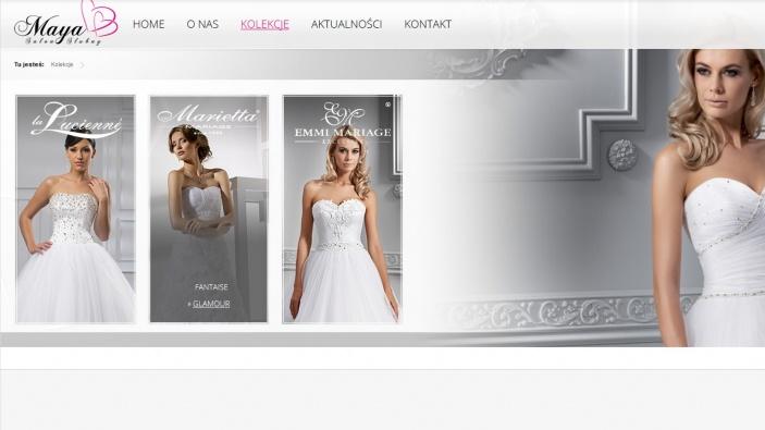 zrzut ekranu nr 0 dla realizacji Strona dla salonu ślubnego