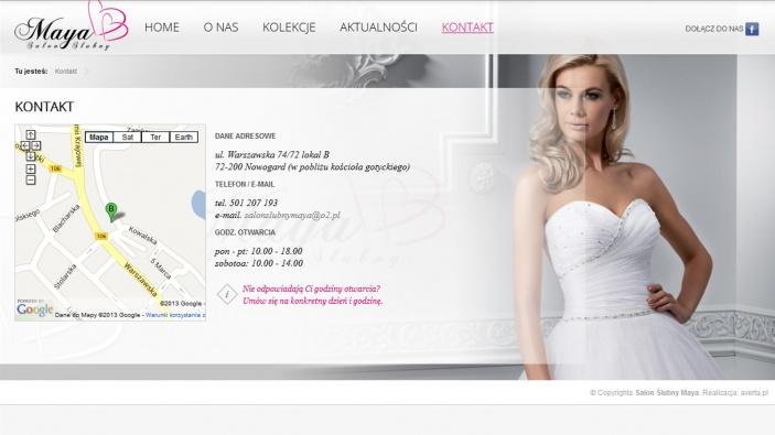 zrzut ekranu nr 2 dla realizacji Strona dla salonu ślubnego