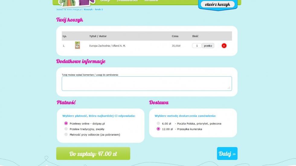 sklepy internetowe - podląg dla Wydawnictwo Meiga nr 3