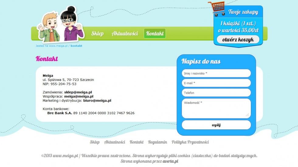 sklepy internetowe - podląg dla Wydawnictwo Meiga nr 2