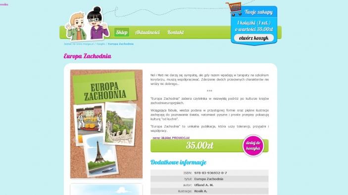 zrzut ekranu nr 0 dla realizacji Meiga - pozytywna księgarnia internetowa