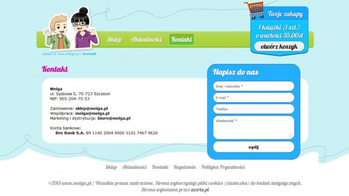 zrzut ekranu nr 1 dla realizacji Meiga - pozytywna księgarnia internetowa