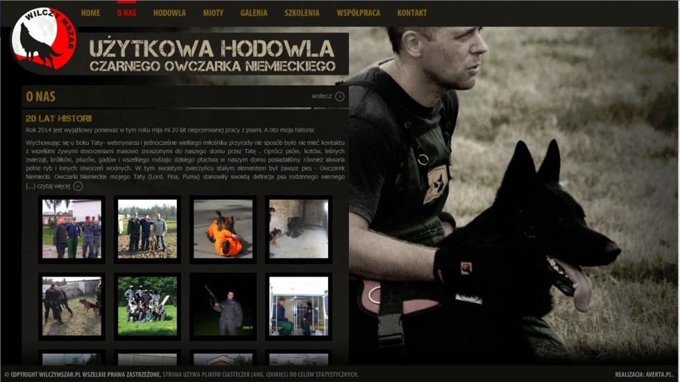 strony internetowe - podląg dla Hodowla czarnego owczarka niemieckiego nr 2