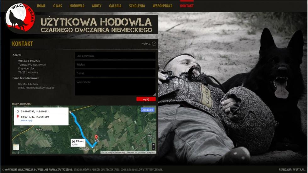 strony internetowe - podląg dla Hodowla czarnego owczarka niemieckiego nr 3