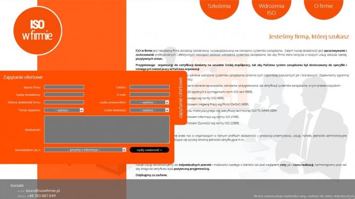 zrzut ekranu nr 0 dla realizacji ISO-W-FIRMIE