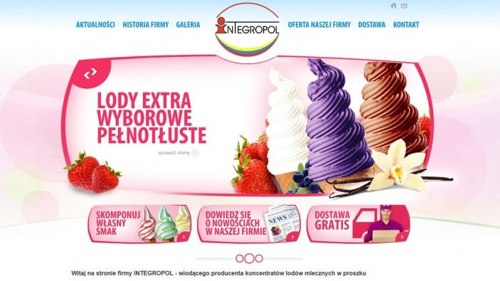 zrzut ekranu nr 0 dla realizacji Integropol - producent koncentratu lodów mlecznych w proszku