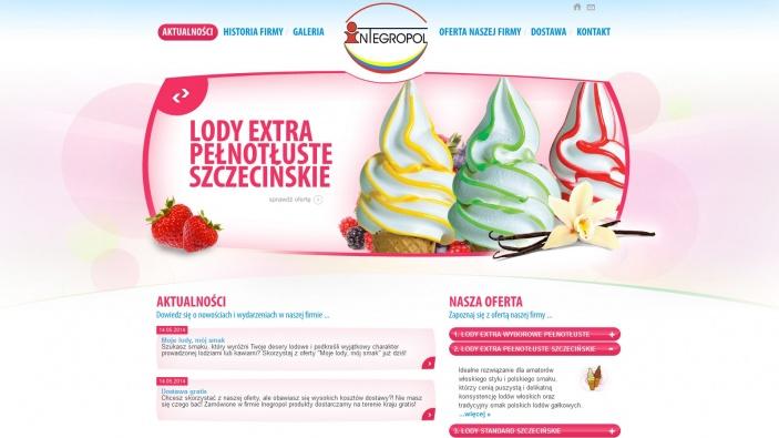 zrzut ekranu nr 1 dla realizacji Integropol - producent koncentratu lodów mlecznych w proszku