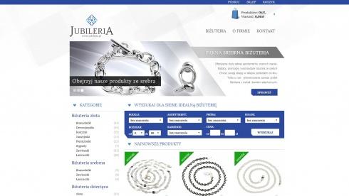 zrzut ekranu nr 4 dla realizacji Jubileria - sklep internetowy