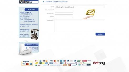 zrzut ekranu nr 3 dla realizacji Jubileria - sklep internetowy