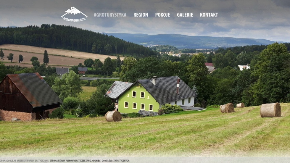 strony internetowe - podląg dla Agroturystyka Barcinek, Tani nocleg w Sudetach nr 1