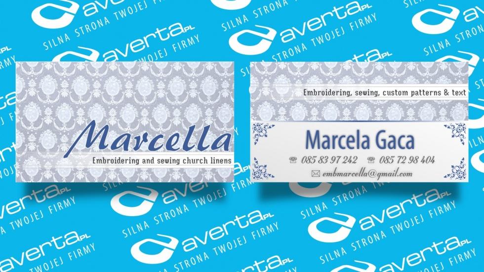 wizytówki - podląg dla Marcella nr 1